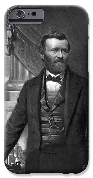 Secession iPhone Cases - Ulysses S. Grant, 18th American iPhone Case by Photo Researchers