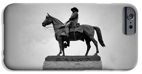 President iPhone Cases - Ulysses S Grant Memorial B n W iPhone Case by Richard Andrews