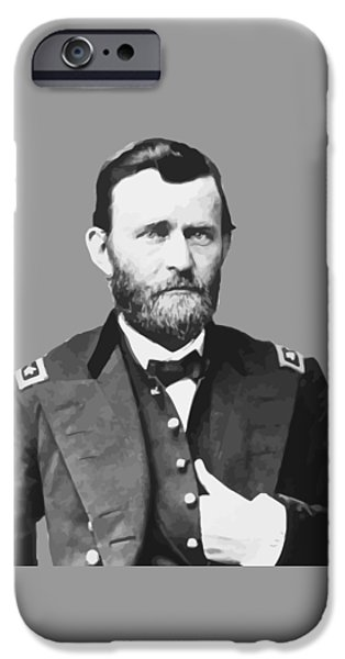 U.s Heroes iPhone Cases - Ulysses S Grant iPhone Case by War Is Hell Store