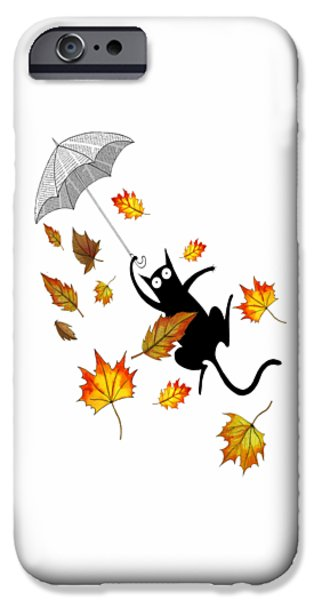 Umbrella Mixed Media iPhone Cases - Umbrella iPhone Case by Andrew Hitchen