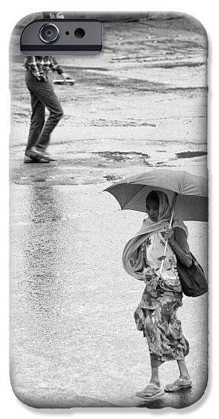 Rainy Day iPhone Cases - Umbrella No Umbrella  iPhone Case by Prakash Ghai