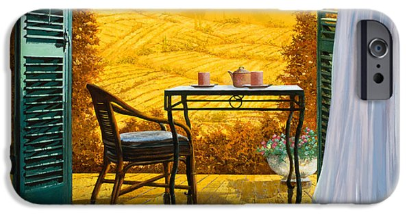 Terraces iPhone Cases - Un Caldo Pomeriggio D iPhone Case by Guido Borelli