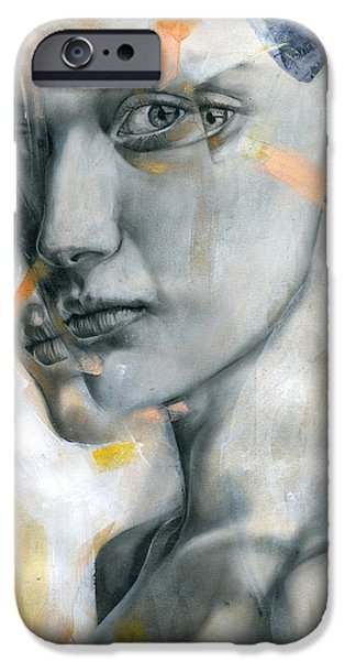 Lips Mixed Media iPhone Cases - Unbearable Lightness iPhone Case by Patricia Ariel