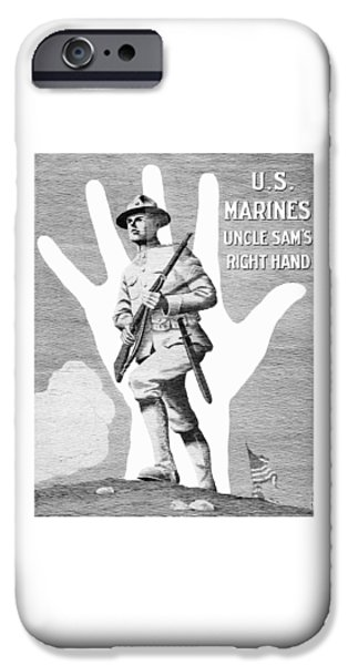 World War One iPhone Cases - Uncle Sams Right Hand - US Marines iPhone Case by War Is Hell Store