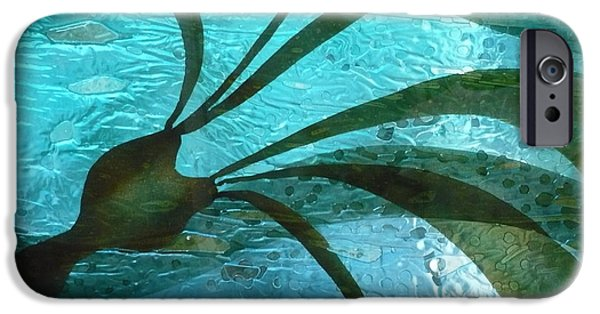 Beach Glass iPhone Cases - Under Currents   detail  iPhone Case by Rick Silas