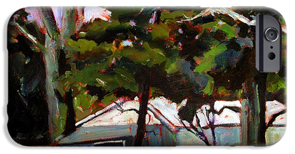 Business Paintings iPhone Cases - Under the PINES iPhone Case by Charlie Spear