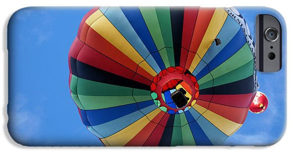 Hot Air Balloon iPhone Cases - Under the Rainbow - Hot Air Balloon iPhone Case by Nikolyn McDonald
