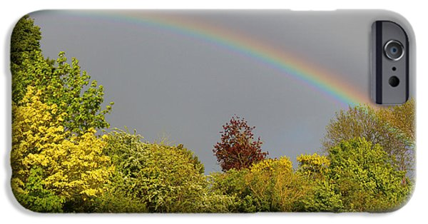 Storm iPhone Cases - Under The Rainbow iPhone Case by Rumyana Whitcher