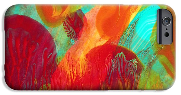Abstract Seascape iPhone Cases - Under the Sea Abstract 2 iPhone Case by Amy Vangsgard