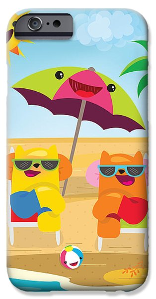 Sand Castles iPhone Cases - Under the sun iPhone Case by Seedys World