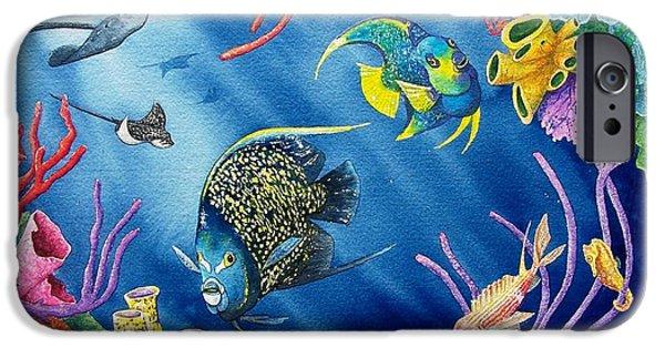 Reef iPhone Cases - Undersea Garden iPhone Case by Gale Cochran-Smith