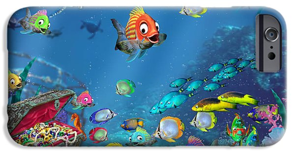 Fanciful iPhone Cases - Underwater Fantasy iPhone Case by Doug Kreuger