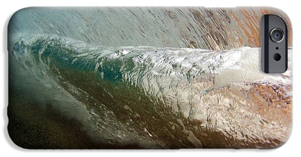 Undersea Photography iPhone Cases - Underwater View Of A Breaking Wave iPhone Case by Vince Cavataio