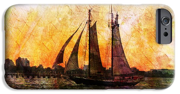 Boat iPhone Cases - Underway iPhone Case by Kiki Art