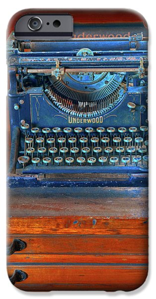 Underwood Typewriter iPhone Case by Dave Mills