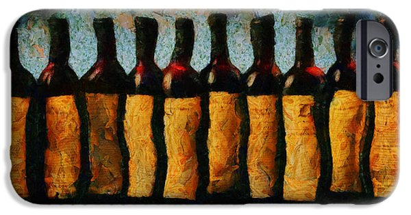 Wine Bottles iPhone Cases - Une histoire d amour en bouteille iPhone Case by Sir Josef  Putsche