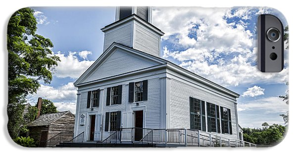 President iPhone Cases - Union Christian Church iPhone Case by Stephen Stookey
