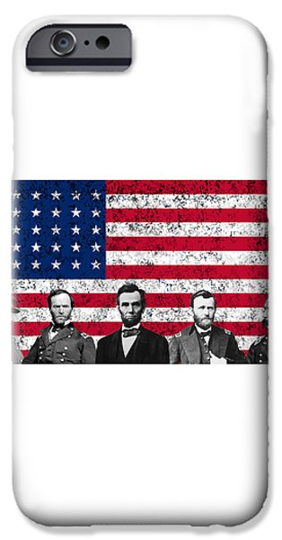 Union Heroes and The American Flag iPhone Case by War Is Hell Store