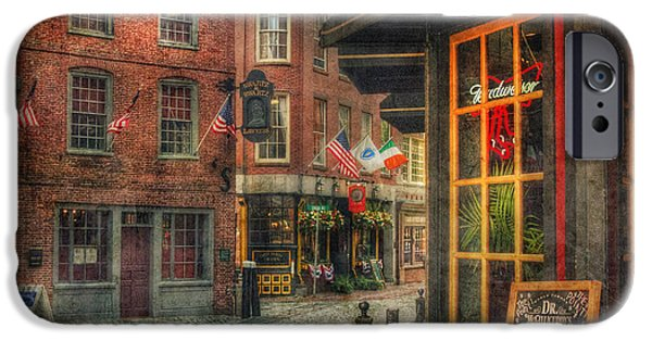 City. Boston iPhone Cases - Union Oyster House - Blackstone Block - Boston iPhone Case by Joann Vitali