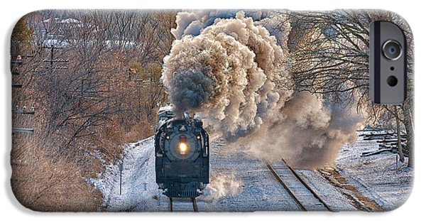 Nebraska iPhone Cases - Union Paifics Living Legend in Elkhorn, Nebraska iPhone Case by Quality RailFan Images