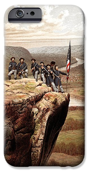 American History iPhone Cases - Union Soldiers On Lookout Mountain iPhone Case by War Is Hell Store
