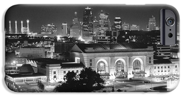 City Scape Photographs iPhone Cases - Union Station in Black and White iPhone Case by Crystal Nederman