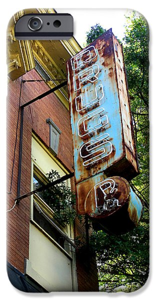 Rust iPhone Cases - Union Street Drugs iPhone Case by Robert M Seel