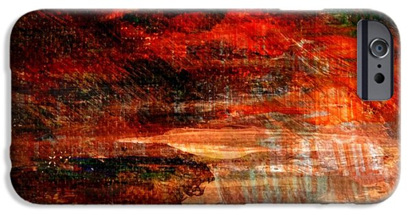 Abstract Digital Mixed Media iPhone Cases - Unique Moments... iPhone Case by Art Di
