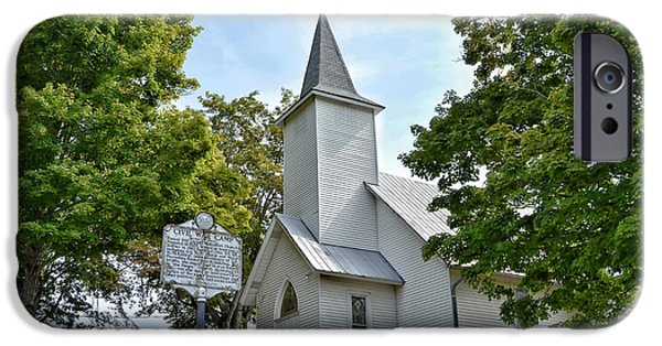 President iPhone Cases - United Methodist Church at Forest Hill iPhone Case by Kerri Farley