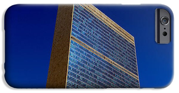 Nation iPhone Cases - United Nations Building, New York iPhone Case by Panoramic Images
