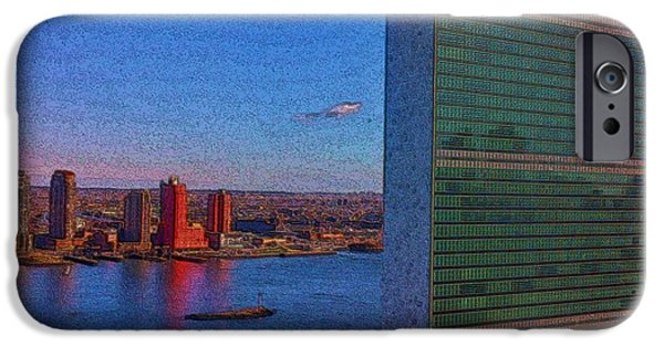 United iPhone Cases - United Nations Secretariat iPhone Case by Steven Richman