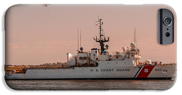 Law Enforcement iPhone Cases - United States Coast Guard Cutter Escanaba WMEC-907 iPhone Case by Brian MacLean