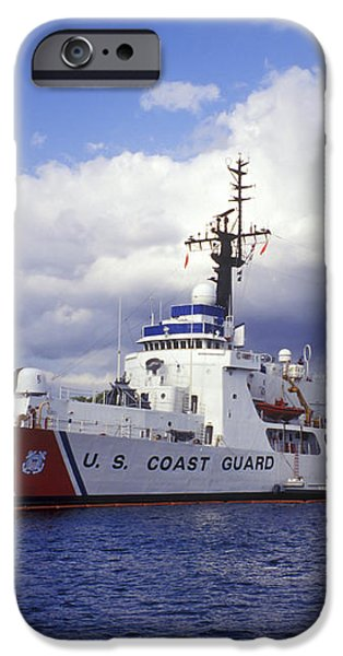 United States Coast Guard Cutter Rush iPhone Case by Michael Wood