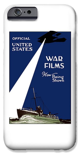 World War One iPhone Cases - United States War Films Now Being Shown iPhone Case by War Is Hell Store
