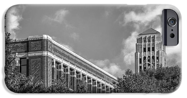Ann iPhone Cases - University of Michigan Natural Sciences Building with Burton Tower iPhone Case by University Icons