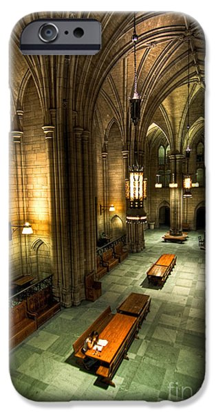 Universities Pyrography iPhone Cases - University of Pittsburgh Cathedral of Learning iPhone Case by Amy Cicconi