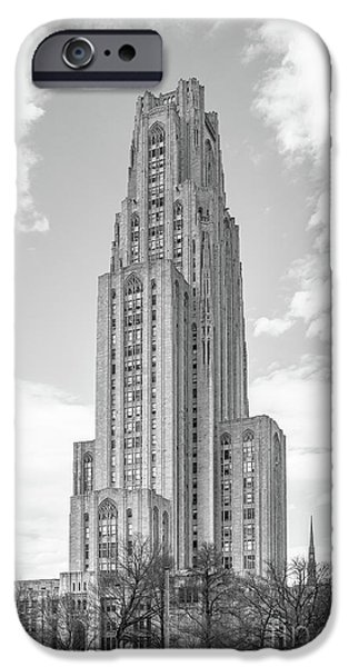 Recognition iPhone Cases - University of Pittsburgh Cathedral of Learning iPhone Case by University Icons