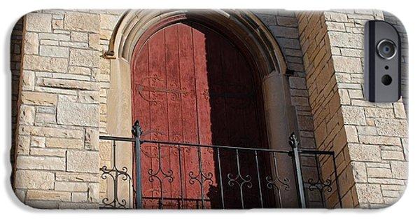 Balcony iPhone Cases - University of Toledo Balcony of University Hall iPhone Case by Michiale Schneider