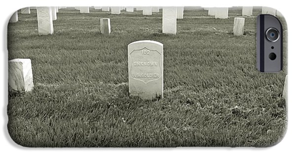 Soldiers National Cemetery Digital iPhone Cases - Unknown Soldier #102 iPhone Case by BackHome Images