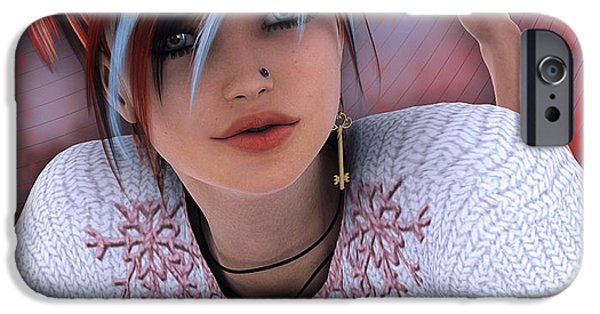 3d Graphic iPhone Cases - Unlock my Heart iPhone Case by Jutta Maria Pusl