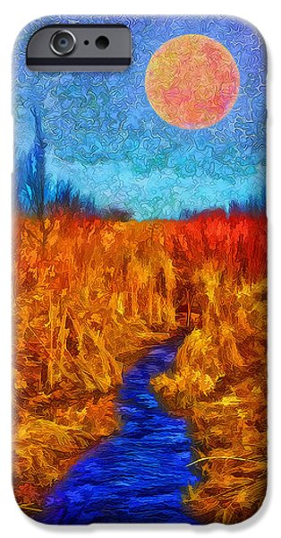 River iPhone Cases - Moonlit Wilderness - Colorado Stream In Boulder County iPhone Case by Joel Bruce Wallach