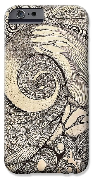 Dynamism iPhone Cases - Inward... iPhone Case by Sreejith V
