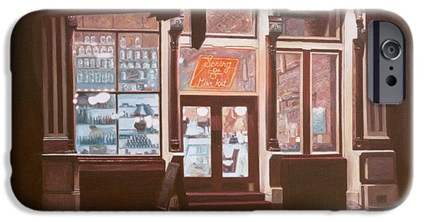 Store Fronts Paintings iPhone Cases - Untitled iPhone Case by Anthony Butera