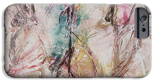 Figures iPhone Cases - Untitled iPhone Case by Ikahl Beckford