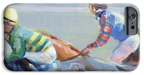 Horse Racing iPhone Cases - Untitled Saratoga iPhone Case by Kimberly Santini