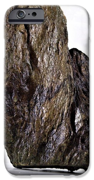 Nature Abstract Sculptures iPhone Cases - Untitled Stone iPhone Case by John Feiser