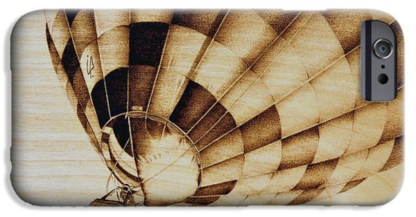Aviation Pyrography iPhone Cases - Up iPhone Case by Ilaria Andreucci