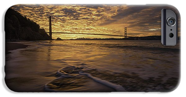 Sausalito iPhone Cases - Up in Flames iPhone Case by Nicholas Steinberg