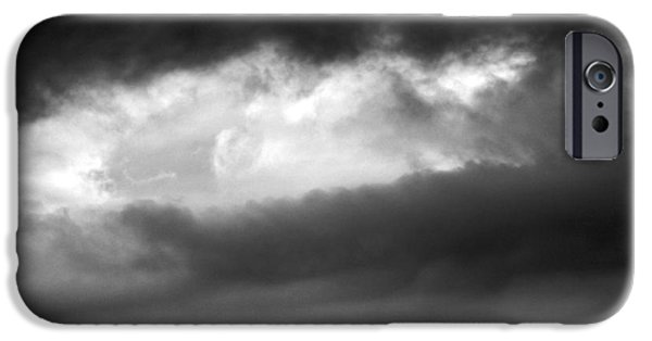 Modern Abstract iPhone Cases - Up In The Clouds #3 iPhone Case by Robyn King