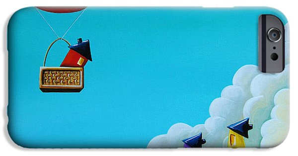 Balloon iPhone Cases - Up Up and Away iPhone Case by Cindy Thornton
